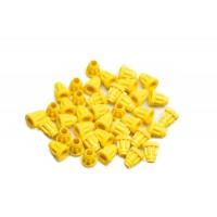Κίτρινες ραβδωτές βάσεις Ζέντερ 40τμχ,