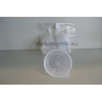 Κύπελλα πλαστικά 70 ml με καπάκι 10 τμχ